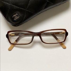 Authentic Chanel glasses with case